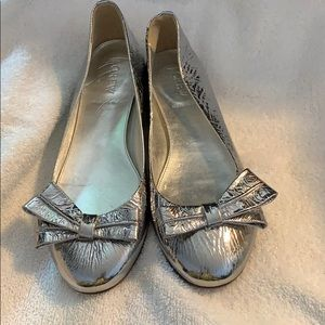 J. Crew Silver flats Size 7